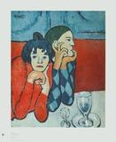 Harlequin and Companion Reproduction pour collectionneurs par Pablo Picasso