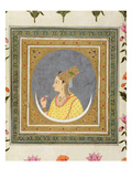 Portrait of a Lady Holding a Lotus Petal  from the Small Clive Album  C1750-60