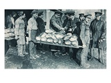 Inspecting Bread at a Bakery in France  Illustration from 'The Illustrated War News'  January 1917