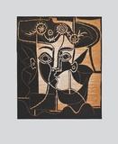 Large Woman's Head with decorated Hat Reproduction pour collectionneurs par Pablo Picasso