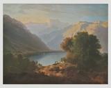 Landscape at Lake Geneva - View in Direction of Villeneuve   1852