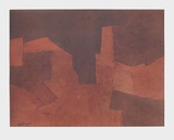 Abstract Composition  Maroon