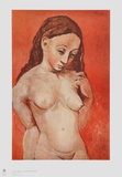 Nude on red