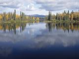 Reflection of Clouds in a Lake  Dragon Lake  Yukon  Canada