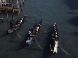 Tourists in Gondolas  Grand Canal  Venice  Veneto  Italy