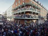 People Celebrating Mardi Gras Festival  New Orleans  Louisiana  USA