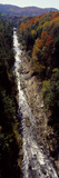 High Angle View of a River Flowing Through a Forest  Ottauquechee River  Quechee Gorge  Windsor