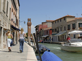 Boats in a Canal  Murano  Venice  Italy