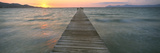 Pier at Sunset in the Sea  Alcudia  Majorca  Spain