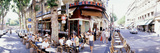 Group of People at a Sidewalk Cafe  Paris  France