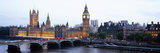 Arch Bridge across a River  Westminster Bridge  Big Ben  Houses of Parliament  Westminster  Lond