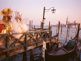 Italy  Venice  St Markõs Basin  People Dressed for Masquerade