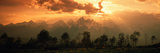 Dawn Teton Range Grand Teton National Park WY USA