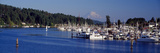 Gig Harbor with Mt Rainier in the Background  Pierce County  Washington State  USA