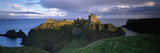 High Angle View of a Castle  Dunnottar Castle  Grampian  Stonehaven  Scotland