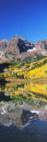 Reflection of a Mountain in the Lake  Maroon Bells  Elk Mountains  Pitkin County  Colorado  USA