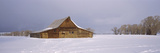 Barn in a Snow Covered Field  Grand Teton National Park  Teton County  Wyoming  USA