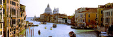 Boats in a Canal with a Church in the Background  Santa Maria Della Salute  Grand Canal  Venice 