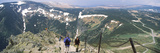 Hikers on Mountains  Snezka  Czech Republic