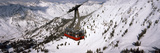 Overhead Cable Car in a Ski Resort  Snowbird Ski Resort  Utah  USA