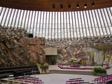 Interiors of a Church  Temppeliaukion Kirkko  Helsinki  Finland