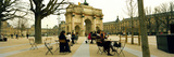 Tourists Near a Triumphal Arch  Arc De Triomphe Du Carrousel  Musee Du Louvre  Paris  Ile-De-Fra