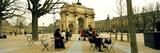 Tourists Near a Triumphal Arch  Arc De Triomphe Du Carrousel  Musee Du Louvre  Paris  Ile-De-Fra