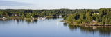 Island View with Houses and Boats  Stockholm Archipelago  Sweden