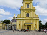 Facade of a Cathedral  Peter and Paul Cathedral  Peter and Paul's Fortress  St Petersburg  Russia