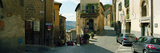 Cars Parked in Front of Houses in a Street  Orvieto  Umbria  Italy