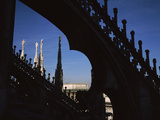 Low Angle View of a Cathedral  Duomo Di Milano  Milan  Lombardy  Italy