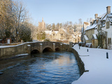 Snow Covered Castle  Castle Combe  Wiltshire  England