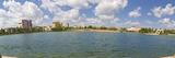 Buildings at the Waterfront  Lake Mirror  Lakeland  Polk County  Florida  USA