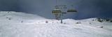 Ski Lift over a Polar Landscape  Lech Ski Area  Austria