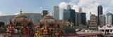 Temple and Skyscrapers in a City  Sri Mariamman Temple  Singapore