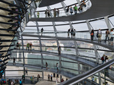 Tourists Near the Mirrored Cone at the Center of the Dome  Reichstag Dome  the Reichstag  Berlin