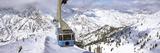 Overhead Cable Car in a Ski Resort  Snowbird Ski Resort  Utah  USA