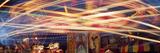 Blurred Lights of Amusement Park Rides  Evergreen State Fair  Monroe  Snohomish County  Washingt