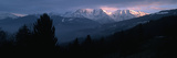 Snow Covered Mountains at Sunset  Combloux  Mont Blanc Massif  Haute-Savoie  Rhone-Alpes  France
