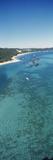High Angle View of Shipwrecks  Tangalooma Wrecks  Moreton Island  Queensland  Australia
