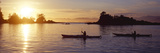 Two People Kayaking in the Sea  Broken Islands  Pacific Rim National Park Reserve  British Colum