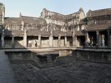 Courtyard of a Temple  Angkor Wat  Angkor  Cambodia