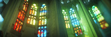 Interiors of a Church Designed by Catalan Architect Antonio Gaudi  Sagrada Familia  Barcelona  C