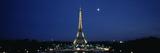 Reflection of a Tower in a River  Eiffel Tower  Seine River  Paris  Ile-De-France  France