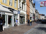 Stores in a Street  Bruges  West Flanders  Belgium