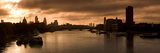 City Dawn  Looking East from Waterloo Bridge at Sunrise  Thames River  London  England