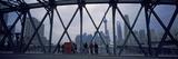 Skyscrapers in a City  Oriental Pearl Tower  Waibaidu Bridge  Suzhou Creek  Shanghai  China