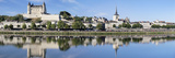 Reflection of a Castle in a River  Saumur Castle  Maine-Et-Loire  Pays De La Loire  Loire Valley