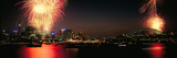 Firework Display at New Year's Eve in a City  Cremorne Point  Sydney  New South Wales  Australia