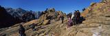 Tourists on a Mountain  Mount Gwongeumseong  Seoraksan National Park  South Korea